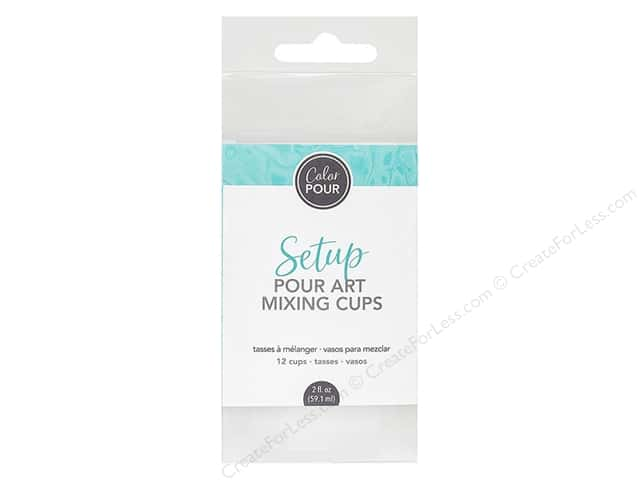 American Crafts Color Pour Pour Art - Mixing Cups 12 pc