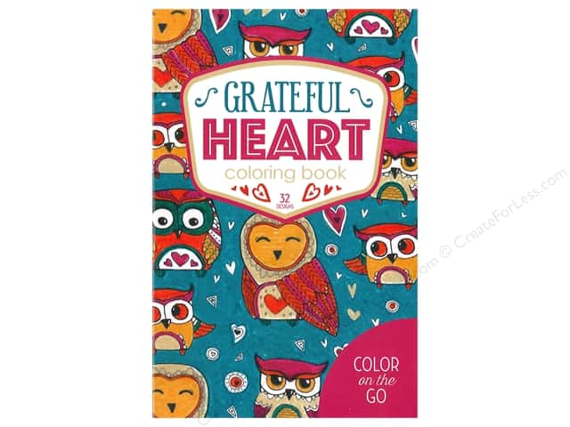 Color on the Go: Grateful Heart Coloring Book