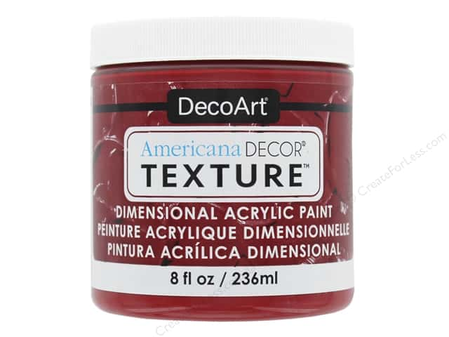 DecoArt Americana Decor Texture Acrylic Brick Red 8 oz