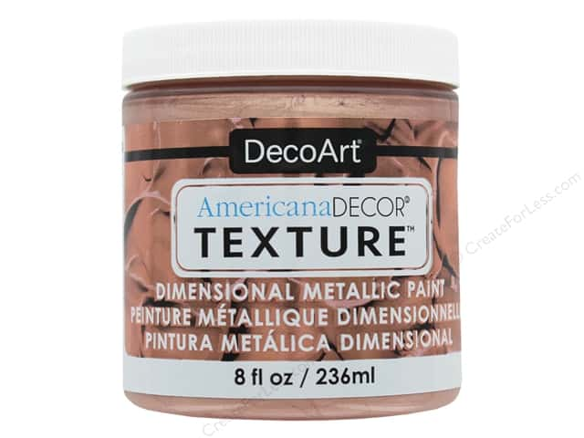DecoArt Americana Decor Texture Metallics Rose Gold 8 oz