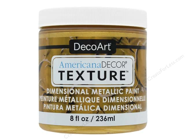 DecoArt Americana Decor Texture Metallics Bright Gold 8 oz