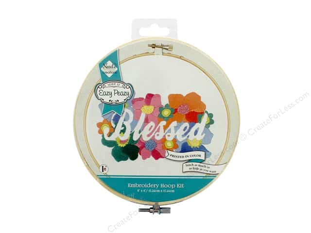 """Needle Creations Kit Embroidery Hoop 6"""" Blessed Reverse"""