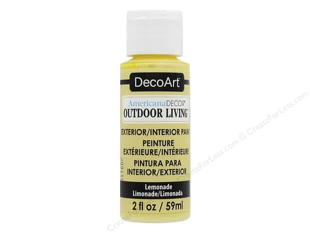 DecoArt Americana Decor Outdoor Living Exterior/Interior Paint 2 oz. Lemonade