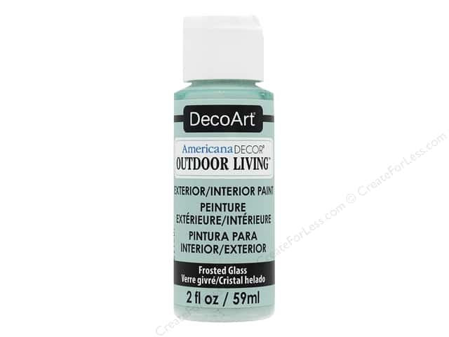 DecoArt Americana Decor Outdoor Living Exterior/Interior Paint 2 oz. Frosted Glass
