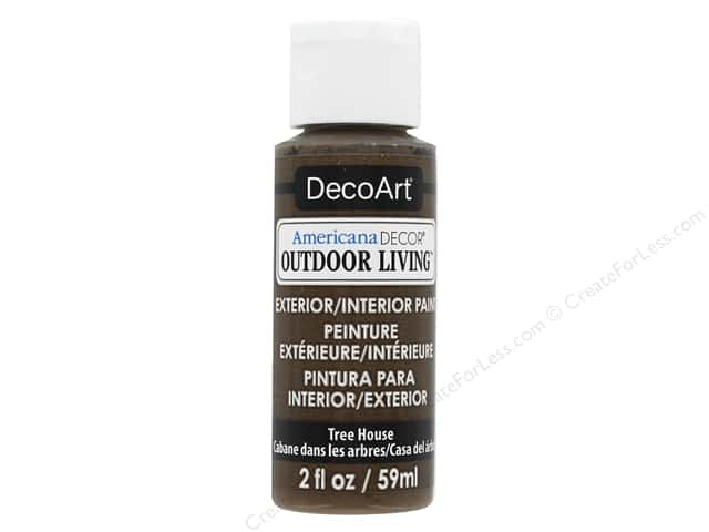 DecoArt Americana Decor Outdoor Living Exterior/Interior Paint 2 oz. Tree House