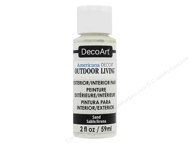 DecoArt Americana Decor Outdoor Living Exterior/Interior Paint 2 oz. Sand