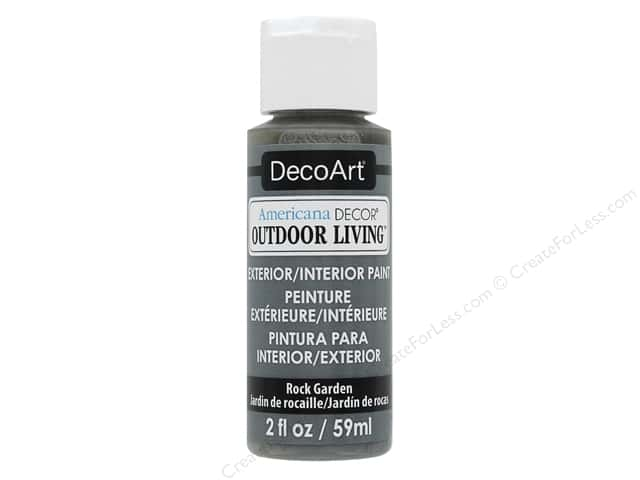 DecoArt Americana Decor Outdoor Living Exterior/Interior Paint 2 oz. Rock Garden
