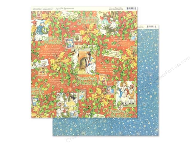 Graphic 45 Collection Christmas Magic Paper 12 in. x 12 in. Merry Memories