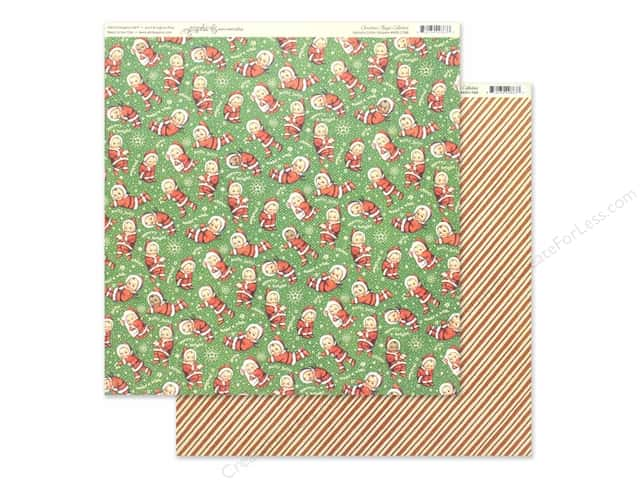 Graphic 45 Collection Christmas Magic Paper 12 in. x 12 in. Santa's Little Helper
