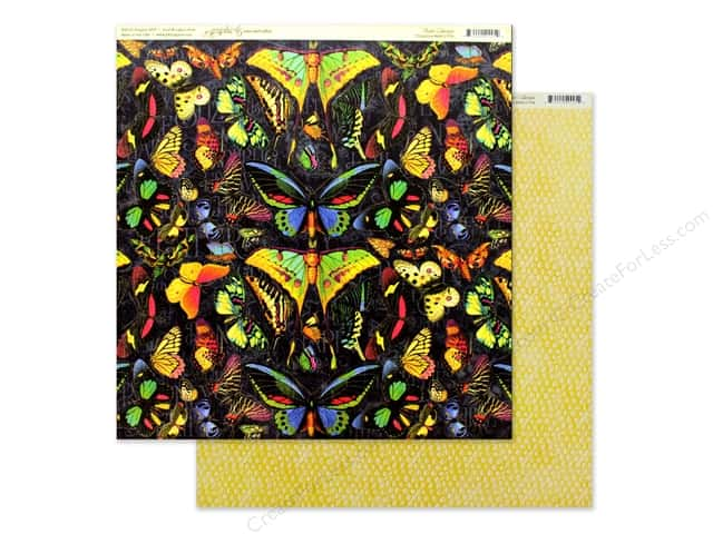Graphic 45 Collection Flutter Paper 12 in. x 12 in. Vivacious