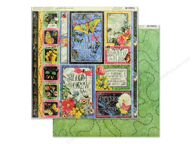 Graphic 45 Collection Flutter Paper 12 in. x 12 in. Exquisite