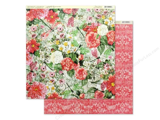 Graphic 45 Collection Flutter Paper 12 in. x 12 in. Glorious