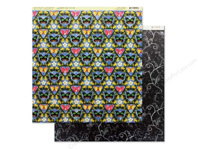 Graphic 45 Collection Flutter Paper 12 in. x 12 in. Iridescent