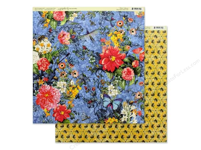Graphic 45 Collection Flutter Paper 12 in. x 12 in. Memorable