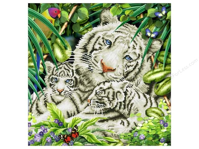 Diamond Dotz Intermediate Kit - White Tiger & Cubs