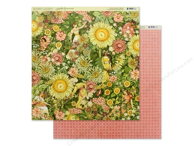 Graphic 45 Collection Garden Goddess Paper 12 in. x 12 in. Thoughtfully Planted