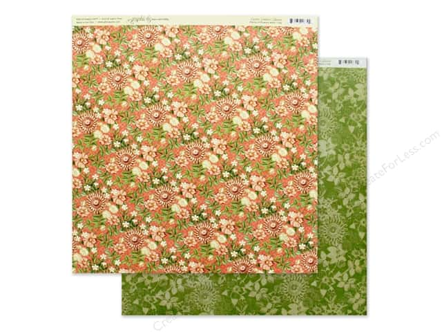 Graphic 45 Collection Garden Goddess Paper 12 in. x 12 in. Field Of Flowers