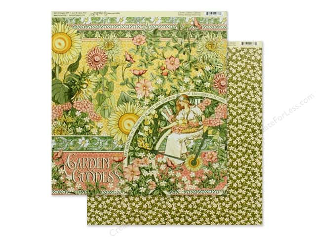 Graphic 45 Collection Garden Goddess Paper 12 in. x 12 in.
