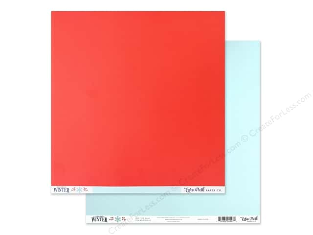 Echo Park Collection Celebrate Winter Paper 12 in. x 12 in. Red/Ice Blue