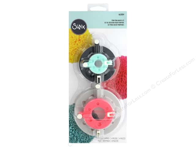 Sizzix Accessories Pom Pom Maker 4pc