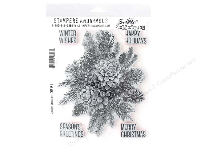Stampers Anonymous Tim Holtz Cling Mount Stamp Set - Glorious Gathering