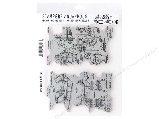 Stampers Anonymous Tim Holtz Cling Mount Stamp Set - Inventor 6