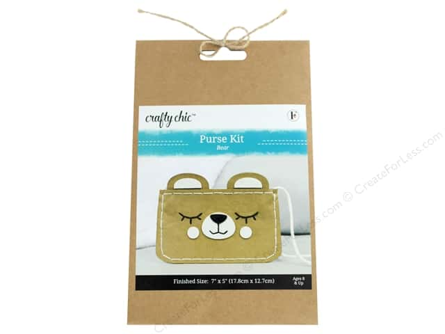 Crafty Chic Purse Kit - Bear