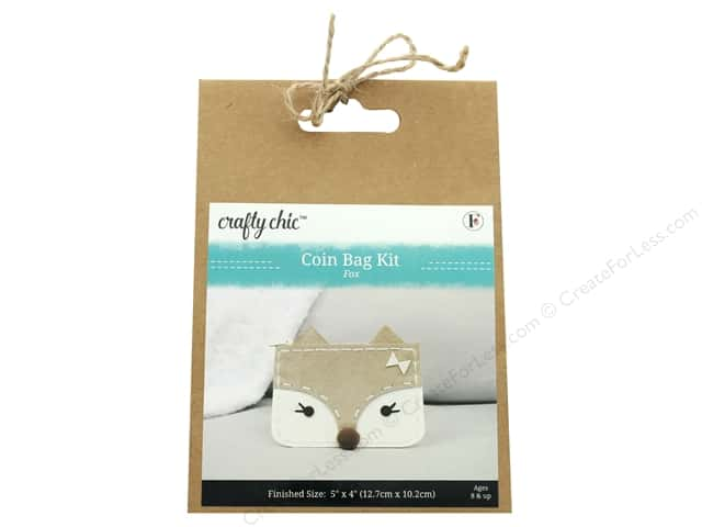 Crafty Chic Coin Bag Kit - Fox
