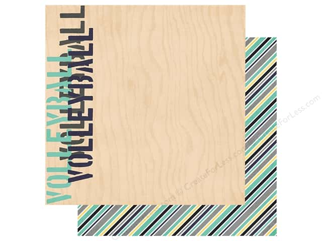Simple Stories Collection Volleyball Paper 12 in. x 12 in.  Dig It (25 pieces)
