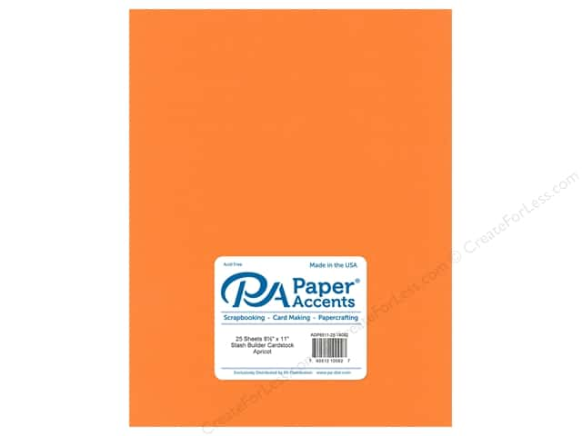 Paper Accents Cardstock 8 1/2 x 11 in. #18092 Stash Builder Apricot (25 sheets)
