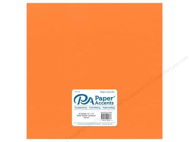 Paper Accents Cardstock 12 x 12 in. #18092 Stash Builder Apricot (25 sheets)