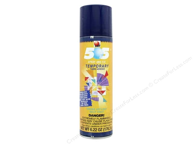 Odif 505 Spray & Fix Temporary Fabric Adhesive 6.22 oz.