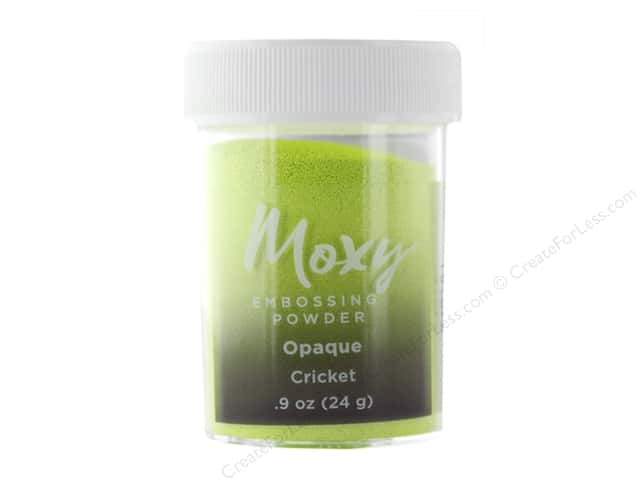 American Crafts Collection Moxy Embossing Powder .9 oz Opaque Cricket