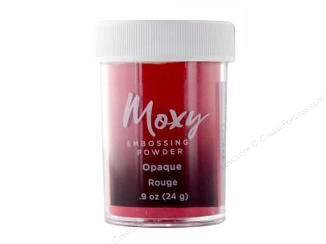 American Crafts Collection Moxy Embossing Powder .9 oz Opaque Rouge