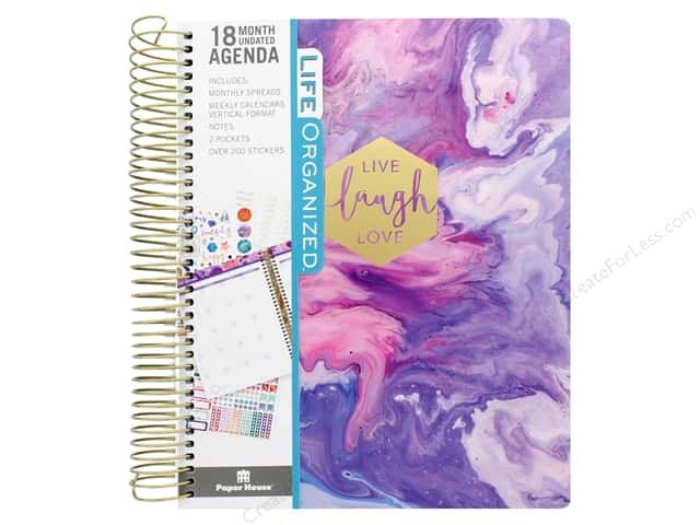 Paper House Collection Life Organized Planner 18 Month Marbleous