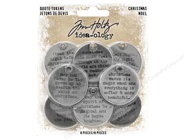 Tim Holtz Idea-ology Christmas Token Quotes