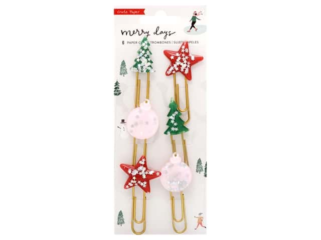 Crate Paper Collection Merry Days Paper Clip Epoxy