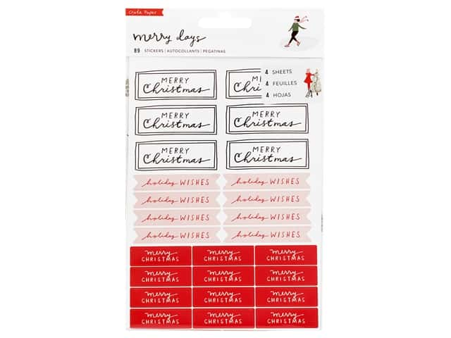 Crate Paper Collection Merry Days Sticker Waterfall