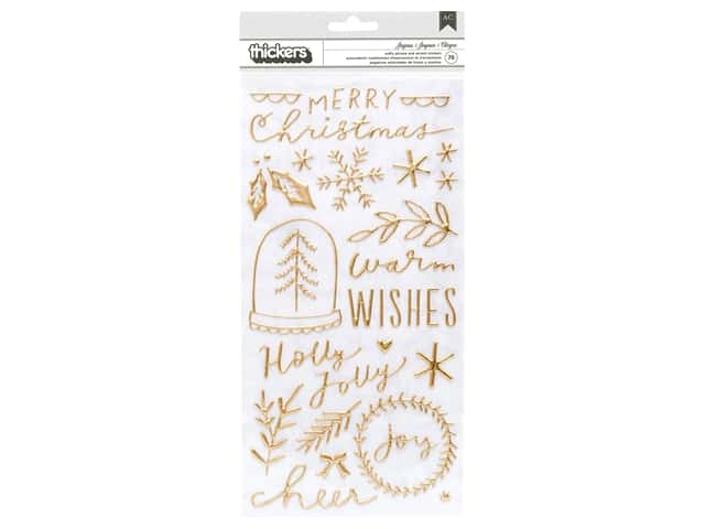Crate Paper Collection Merry Days Thickers Sticker Phrase & Accents Joyous