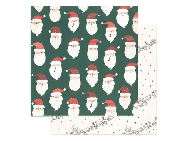 Crate Paper Collection Merry Days Paper 12 in. x 12 in. Believe