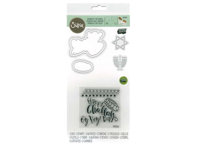 Sizzix Die & Stamp Lindsey Serata Framelits Die With Stamp Happy Challah Days