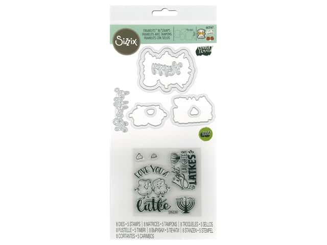 Sizzix Die & Stamp Lindsey Serata Framelits Die With Stamp Love You A Latke