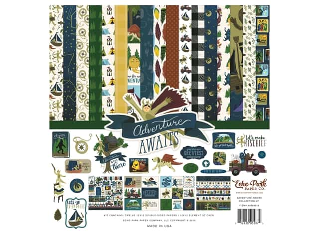 "Echo Park Collection Adventure Awaits Collection Kit 12""x 12"""