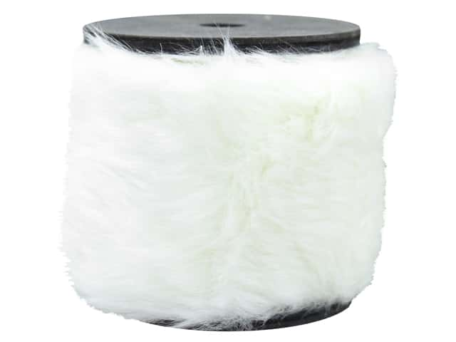 Sierra Pacific Crafts Decor Garland Wood Spool 36 in. White Fur