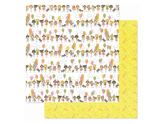 Photoplay Collection Birthday Wishes Girl Paper 12 in. x 12 in. Birthday Girl