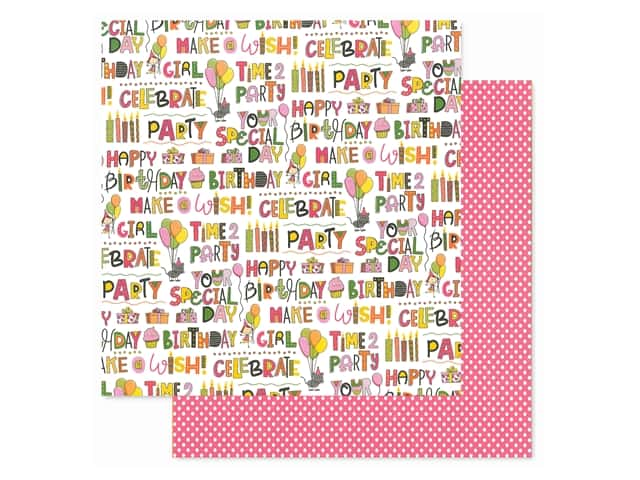 Photoplay Collection Birthday Wishes Girl Paper 12 in. x 12 in. Your Special Day