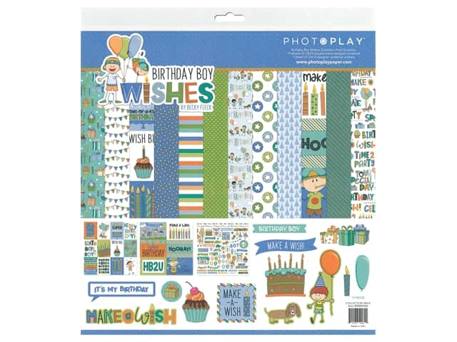 Photoplay Collection Birthday Wishes Boy Collection Pack  12 in. x 12 in.