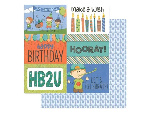 Photo Play 12 x 12 in. Paper Birthday Wishes Boy It's Your Day