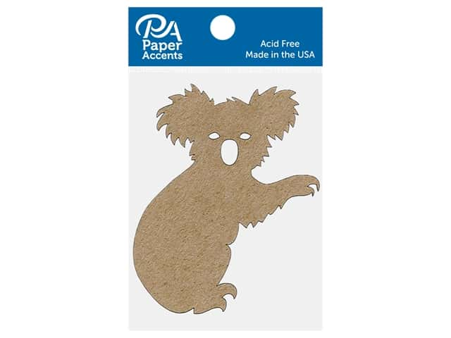 Paper Accents Chip Shape Koala Natural 6 pc