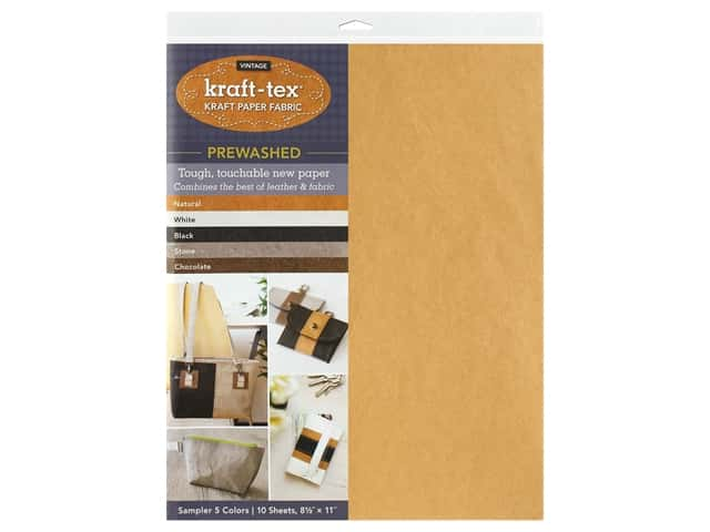 C&T Publishing Kraft-Tex Paper Fabric Hand-Dyed & Prewashed Sampler Pack 10 pc.